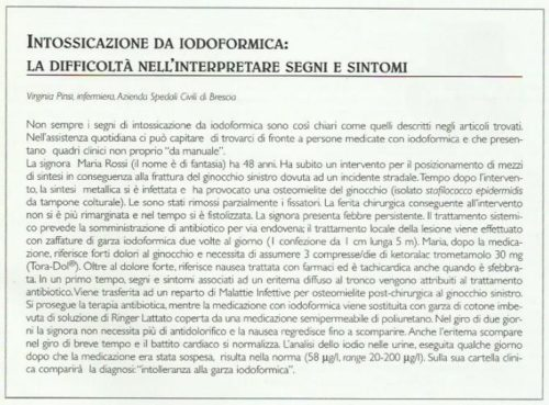 Intossicazione da iodoformica