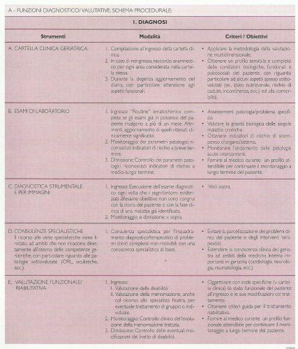 """Schema della operatività del DH geriatrico dell'Istituto """"C. Golgi"""" secondo le """"Linee Guida"""""""