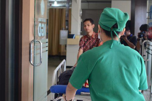 La persona affetta da demenza in ospedale