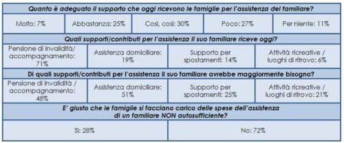 Supporto delle Istituzioni per le famiglie che assistono un ANA (Campione 300 FANA)