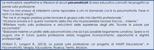 Laboratori di scrittura professionale per psicomotricisti