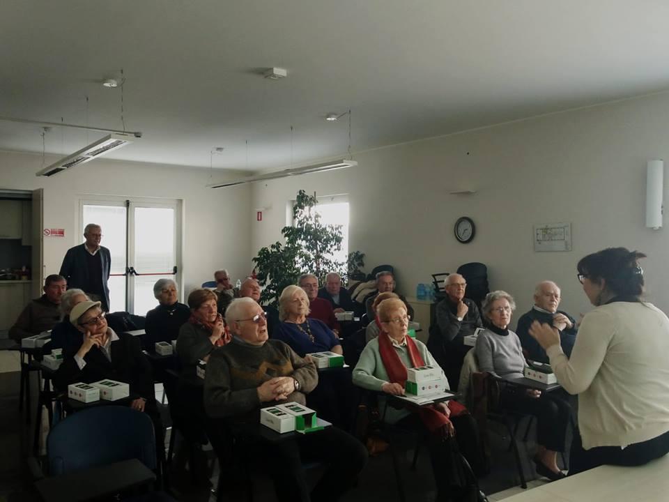 Momento di incontro presso la Fondazione Golgi Cenci