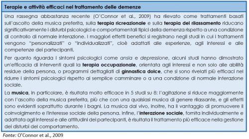 Terapie e attività efficaci nel trattamento delle demenze