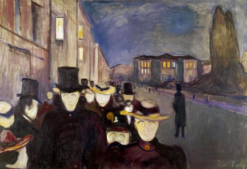 Sera sul viale Karl Johan, Edvard Munch, 1982