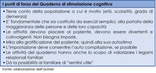 I punti di forza del Quaderno di stimolazione cognitiva