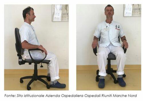 La postura corretta del tronco da seduto