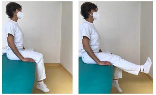 Flesso estensione della gamba da seduto