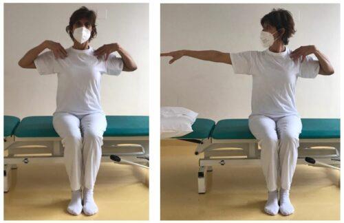 Flesso-estensione dei gomiti ed elevazione delle spalle da seduto