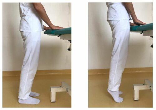 Esercizi di estensione sulle punte dei piedi